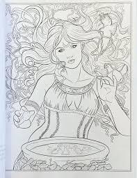 Amazon Goddess And Mythology Coloring Book Fantasy By Selina