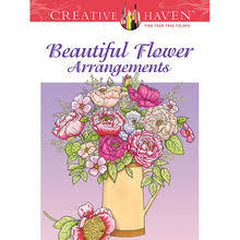Creative HavenR Beautiful Flower Arrangements Coloring Book