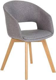 invicta interior design stuhl nordic mit beinen aus eiche grau esszimmerstuhl eichenholz strukturstoff