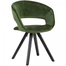 esszimmerstuhl samt grün mit schwarze beine modern küchenstuhl mit lehne stuhl mit holzfüßen polster