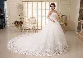 Long Tail Wedding Dress Sweet Princess Diamond Royal Train Bride