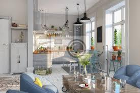 fototapete skandinavische nordische küche wohnzimmer esszimmer wohnung