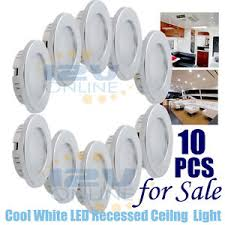 10pcs 12v 70mm led recessed ceiling light rv boat cabinet