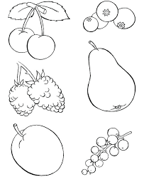 Fruits Coloring Pages Fruit For Kids And Vegetables Free Printable