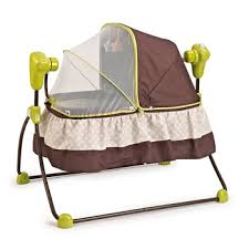 Baby Electric Infant Cradle Automatic Swing Crib Folding Rocker