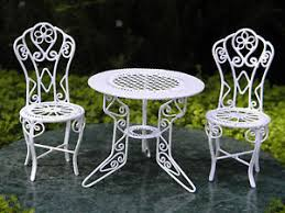 Image Is Loading Miniature Dollhouse FAIRY GARDEN Furniture White Wire Table