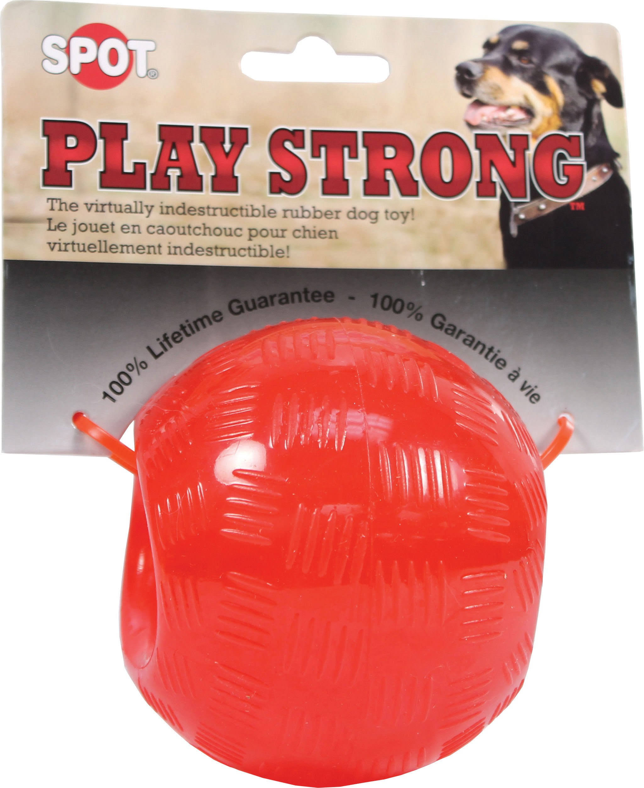 Spot Play Strong Rubber Ball Dog Toy - Large