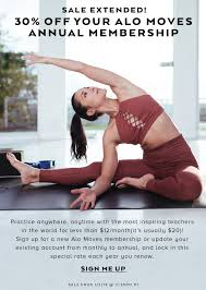 Alo Yoga: Sale Extended! 30% Off Your Alo Moves Annual ...