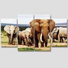 No Frame Africa Elephant Vintage Animals Modular Pictures Oil Canvas Art Painting On Wall Diy Decor Quadro Cuadro Mural HH024 In Calligraphy From