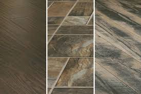 Various Laminate Floors In Wood And Stone Designs
