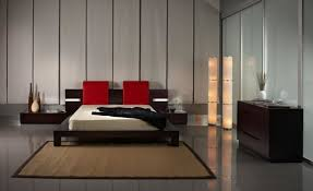 Interior Modern Bedroom Design With Minimalist Furniture And Apply Sophisticated Floor Lamps Put In Corner