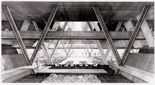100 Architect Paul Rudolph Original Rendering Of The Structural System By The