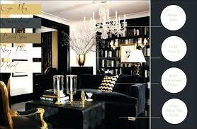 schwarz gold wohnzimmer dekoration ideen goldenes