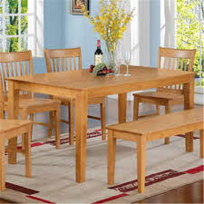 East West EWCDT OAK S Capri Rectangular Dining Table 36 In X 60