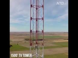 changing the lightbulb on a 1500 foot tower is breathtakingly