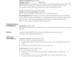 Social Work Resume Sample Worker Maintenance