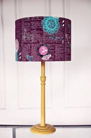 Purple Lamp Shade Woodland Home Decor Deer Lampshade Stag