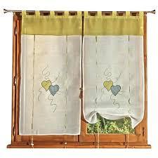 rideau pour cuisine design rideau pour cuisine design vitrage 2 rideaux cupidon 60 120 cm