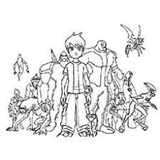 Ben 10 Coloring Page Pages 20 Free Printable For Ones