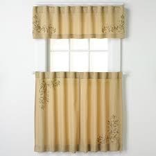 Kohls Kitchen Window Curtains by Chf U0026 You Scroll Leaf Tier Kitchen Window Curtains