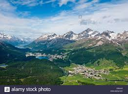 100 Muottas Muragl Views Of Celerina And St Moritz From A Top Stock