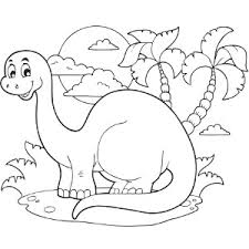 Standing Dinosaur Coloring Page