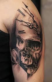 A Simple Skull Tattoo Design On Hand