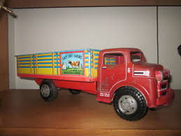 Marx Tin-Litho Lazy Day Farms Truck | Collectors Weekly John Deere 116th Scale Big Farm Truck With Cattle Trailer 1 64 Ford Louisville L9000 Grain Scratch Custom Toy Wyatts Toys Trailers Rockin H Trucks Tonka Classic Steel Stake Wwwkotulascom Free 1950s 2 Listings 1975 Chevy C65 Tag Axle And 20 Grain Body Snt Custom 0050 Blue Ih 4300 Pulling A Wilson Pup