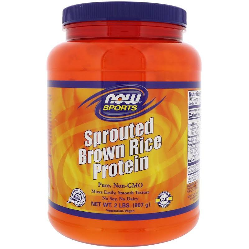 Now Sports Sprouted Brown Rice Protein Powder - 2lb