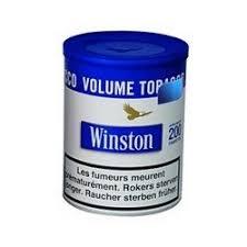 pot de tabac winston tabac winston volume blue pot 100gr