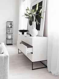 sideboard mit schubladen in weiß