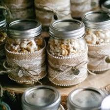 DIY Popcorn Mason Jar Wedding Favors