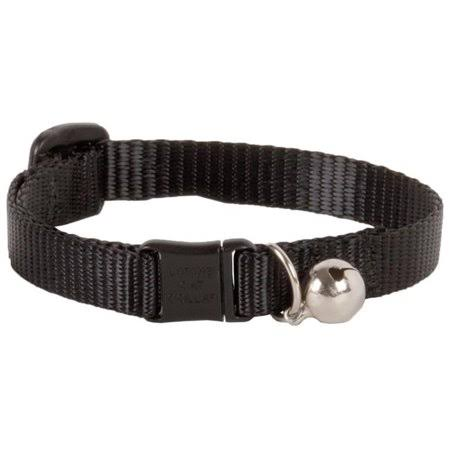 "Lupine Adjustable Safety Cat Collar with Bell - 1/2"" X 8-12"", Black"