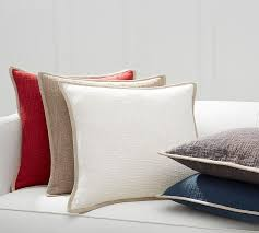 basketweave pillow cover pottery barn
