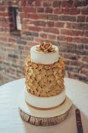 Gold Petal Cake Log Stand Bespoke Rustic Homespun Wedding Lisahowardphotographyco