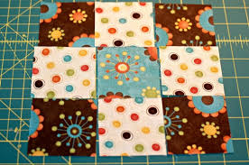 Make a Nine Patch Quilt Block Using Four Fabrics