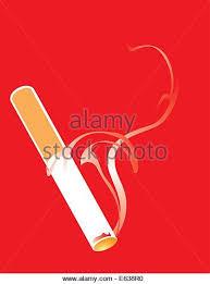 lit smoking cigarette on red stock photos lit smoking cigarette