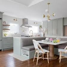 Kitchen Island With L Shaped Dining Banquette