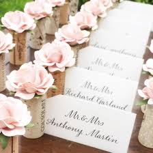 Romantic Placecard Holder Wedding Blush Pink Bridal Shower