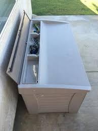 Suncast 195 Gallon Deck Box Manual by Suncast 127 Gallon Light Taupe Resin Storage Seat Deck Box Db12000