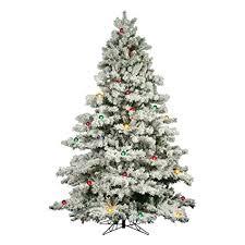 Flocked Alaskan Full Pre Lit Christmas Tree