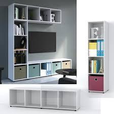 vicco raumteiler 4 fächer weiß 144 x 36 cm standregal hängeregal regal tv lowboard sideboard