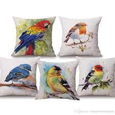 Birds Watercolor Painting Cushion Covers Pineapple Cherry Strawberry Thick  Linen Cotton Pillows Cover 45X45cm Sofa Chair Seat Decoration Wicker Patio  ... Free Shipping Modern 8 Colors Solid Sofa Chair Designer Faux Linen Like Throw Fashion Cushion Cover Decorative Home Pillow Case X45cm Footsi High Chair Cushion Cover Pimp My High Spandex Chiavari Tk Classics Laguna Outdoor Middle With 2 Sets Of Covers 28 Great Of Pasurable Photos Moroccan Wedding Blanket How To Easily Recover A Improvement Amazoncom Aztec Pattern Kilim Lumbar Vintage Motorcycle Racing Girl Cotton Pillowcase Seat Car Almofadas 40cm Fluffy Plush Soft Peacock Caribou