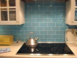tiles blue backsplash tile lush sky 3x6 blue glass subway tile