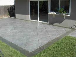 Grey Concrete Floor Patio With Green Grass And Brown Wooden Fence ... Patio Ideas Concrete Designs Nz Backyard Pating A Concrete Patio Slab Design And Resurface Driveway Cement Back Garden Deck How To Fix Crack In Your Home Repairs You Can Sketball On Well Done Basketball Best 25 Backyard Ideas Pinterest Lighting Diy Exterior Traditional Pour Slab Floor With Wicker Adding Firepit Next Back Google Search Landscaping Sted 28 Images Slabs Sandstone Paving