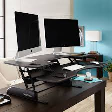 Dual Monitor Stand Up Desk by Review Of The Varidesk Pro Plus 48 Notsitting Com