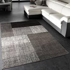 designer rug living room carpet karo grey black size