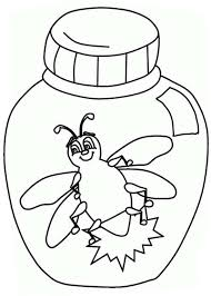 Firefly In A Jar Coloring Page