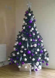 Christmas Trees Decorated Purple 04