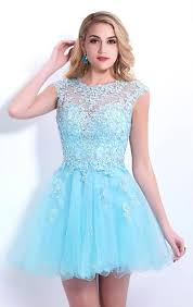 sale cap sleeve blue beaded lace short homecoming dresses 2015